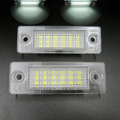 2 Plafones led matricula Volkswagen Jetta Touran Passat Golf Plus Caddy transpor