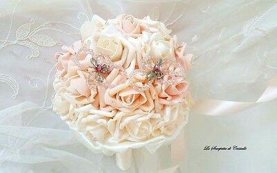Bouquet rose in foam