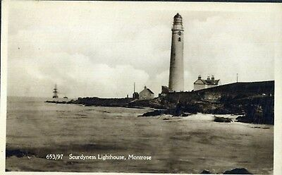 Scurdyness Lighthouse,  Montrose, Angus.  Scotland. Old Pc