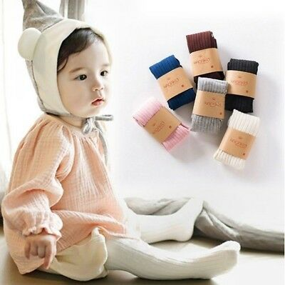 Pantyhose Tights Stockings Warm Cotton Solid Socks for Baby Girls Toddler Kids