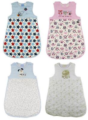 Baby Sleeping Bag 0-6m 6-12m 2.5 togs Soft Cotton Jersey Side Zip Baby Gift