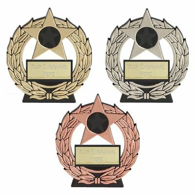 Budget Trophy Award Mega Star Plaque Award - Cheap Trophies - Free Engraving