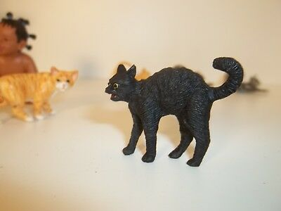 Black Halloween  Cat - Resin - Doll House Miniature