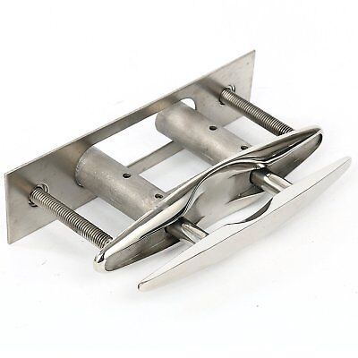 New! Cleat Lift Great Flush Mount 316 Stainless Steel Pull up Cleat -8 Inch