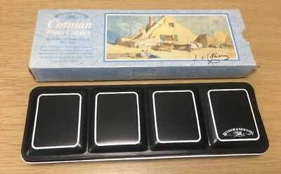 Vintage Winsor And Newton Cotman Watercolour Box