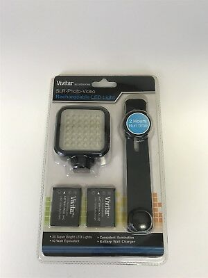 NEW Vivitar SLR-Photo-Video Rechargeable LED Light VIV-VL-400,36 LED Lights