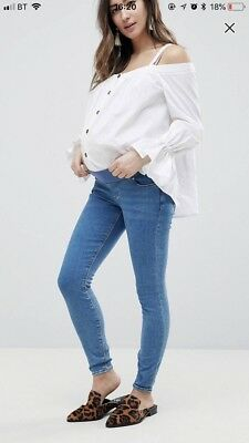 New Asos Size 14 Under Bump Maternity Jeans RRP £28 This Season! 💕