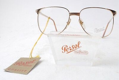 Vintage RARE Persol RATTI AIER 142 Gold Frame Eyeglasses Italy W/Label UNUSED