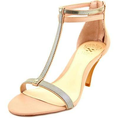 3ae6e61daadf Vince Camuto Womens Makoto Open Toe Ankle Strap Classic Sandbar Gold Size  8.5