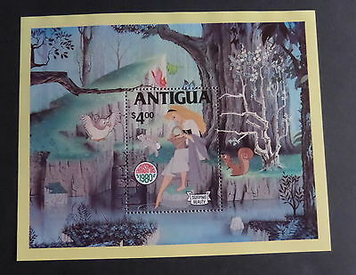 Antigua 1980 Christmas Disney MS680 Sleeping Beauty MNH UM unmounted mint