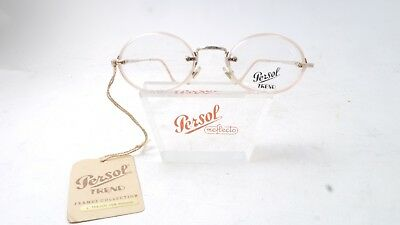 Vintage RARE Persol RATTI ISEN Trend Oval Nude w/Gold detail Eyeglasses W/Label