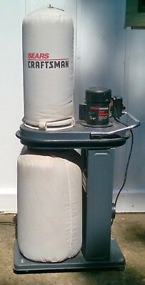 Craftsman 1 hp Dust Collector Model #113.299780 Very Good Condition  WILL SHIP
