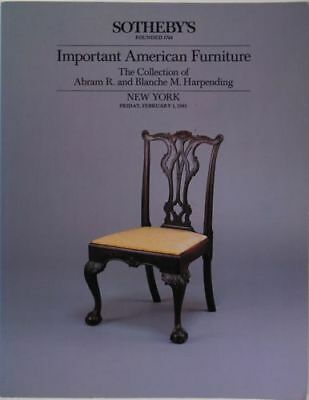 American Antique Colonial Furniture - Harpending Collection at Sotheby's 1985