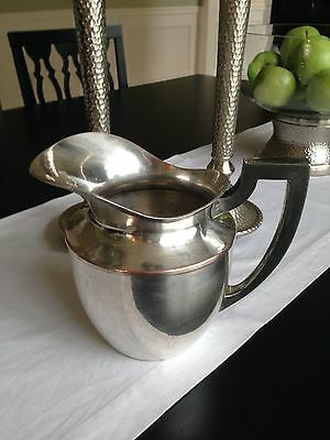 Antique Empire Art Silver EJ&B Silver Plated Pitcher Shabby Chic