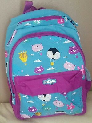 Smiggle Backpack blue BNWT size M