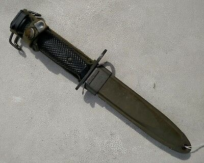 Vietnam Era IMPERIAL US Army M7 Bayonet  USM8A1 With Scabbard Fine Condition