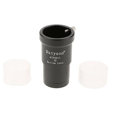 MagiDeal 1.25'' / 31.7mm 3X Barlow Lens Black Metal for Telescope Eyepiece