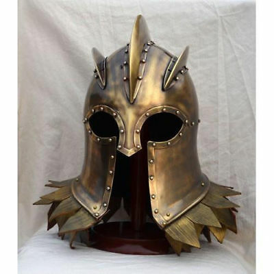 Medieval Wearable Greek King Corinthian Helmet Free Leather Liner halloween gift