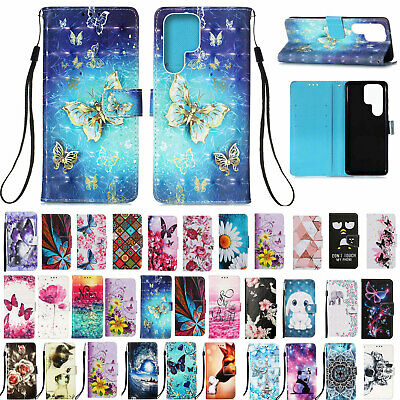 For Samsung Galaxy Note 9 S9/S8/S7 Pattern Phone Case Wallet Leather Stand Cover