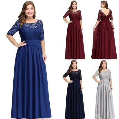Long Evening Formal Party Dress Prom Ball Gown Bridesmaid Chiffon New