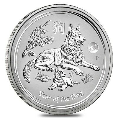 2018 1 oz Silver Lunar Year of The Dog Lion Privy BU Australian Perth Mint In