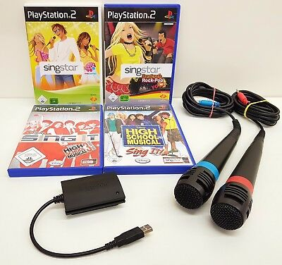 Sing Star PS2 Mikrofone Spiele Games Bundle Mega Karaoke Paket | Playstation 2