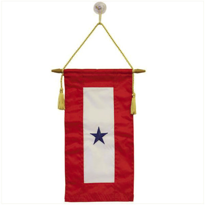 "Vanguard FLAG: SERVICE BANNER WITH ONE BLUE STAR 8"" x 15"""