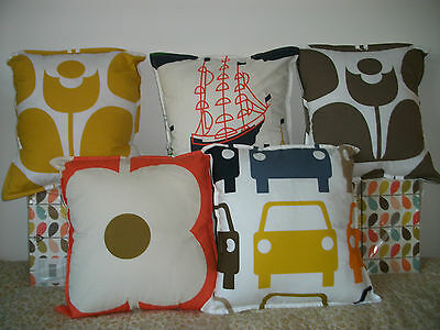 Handmade VARIOUS DESIGN/COLOURS Cushion cover using orla kiely quilting fabric