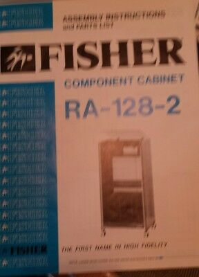 Fisher Component Cabinet RA-128-2 Assembly Instructions & Parts List Instruction