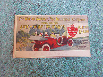 VERY SCARCE—Early Automobile Insurance Blotter-Graphic