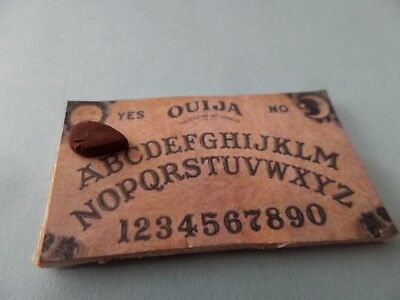 THE Ouija Board -  Halloween To know the future? Dollhouse Miniature1:12 witch
