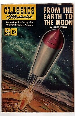 Classics Illustrated #105/From The Earth To The Moon/Jules Verne/1960s Comics
