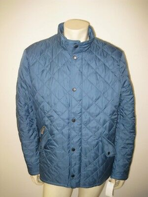 NWT Barbour Flyweight Chelsea Quilted Jacket Blue Steel Size LARGE