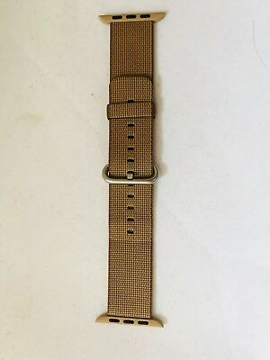 Authentic Genuine Apple Watch Strap 42mm Woven Nylon Toasted Coffee/Caramel