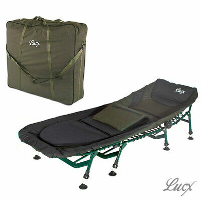 Lucx ® Bedchair 8 Legs carpes chaise longue 8 jambes Angel Couchage Camping Jardin Chaise Longue Master