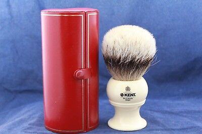 Blaireau Rasage Kent BK12 Silvertip Perd ses Poils - Damaged used Shaving Brush