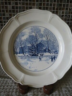 wedgwood plates blue and white