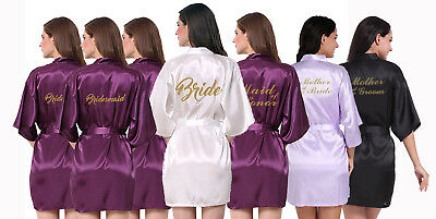 Wedding Bridal Party Robe Gown.Personalised Gold Glitter. Hens, Shower, Bride