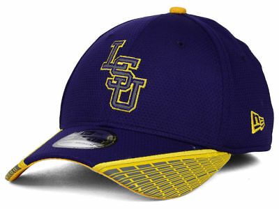 f71d0554cf7 LSU Tigers New Era NCAA Training Mesh 39THIRTY Flex Cap Hat 685843 S M  30