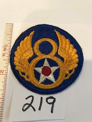 8th Air Force Original  patch WWII 1944 (1939-1945 Era) USA  Stock # 219