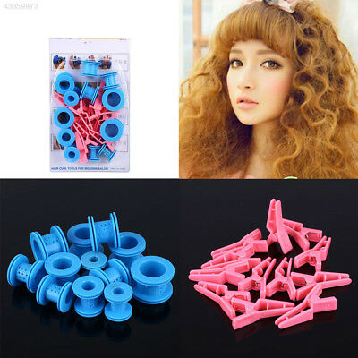 Hair Care Solid Balls Tool Kit Treatment Soft Plastic Roll Curlers Rollers Clips