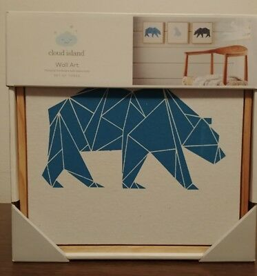Cloud island-set of 3 bear wall art