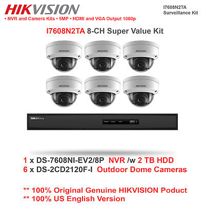 Hikvsion I7608N2TA 8CH Super Value Network Kit /w 6 Dome Cameras + 1 NVR/2TB HDD