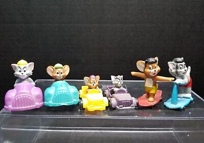 Lot of 6 TOM & JERRY Figures Toys Cars 1993 1994 Subway
