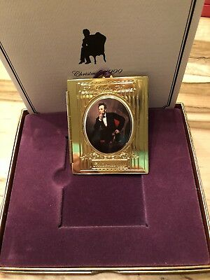 1999 White House Historical Association Abraham Lincoln Gold Christmas Ornament