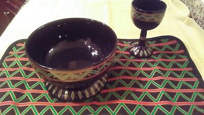 Avon Kwanzaa Collection Bowl, Cup, and Mat