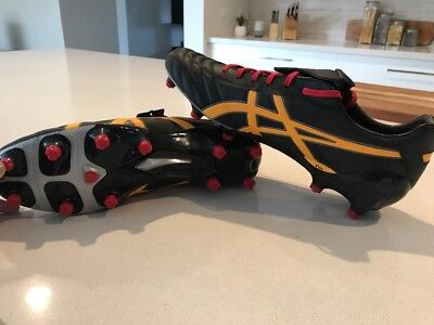 New Men's ASICS Size 12 Aus Lethal Testimonial HG10mm Football Boots