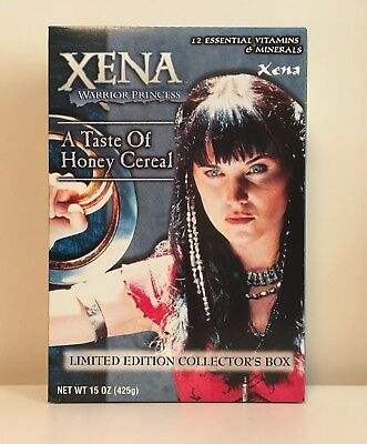 Xena Rittenhouse Archives 2001 A Taste Of Honey Cereal Box Unopened