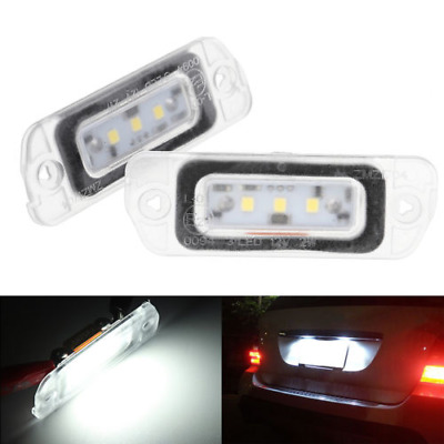 Error Free LED License Plate Light Fit Benz ML300 ML500 GL450 GL550 High Quality
