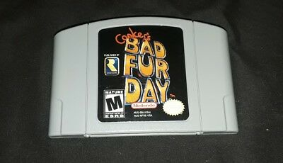 Conker's Bad Fur Day (Nintendo 64, 2001) Cleaned 🎮Tested ☆Authentic N64☆